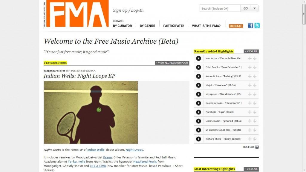 свободная музыка на fma