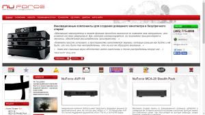 nu-force.ru - русский сайт бренда NuForce - 2009 г.